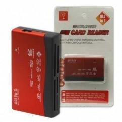 LECTOR DE TARJETAS CR 06 (SD,SDHC,microSD,M2,MS,CF,XD)