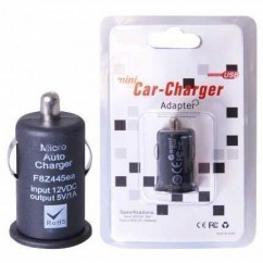 "CARGADOR DE COCHE  ""MINI"" USB 1A BLACK HQ"