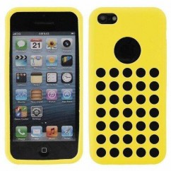 "CARCASA ""HOLES""  iPhone 5C amarilla"