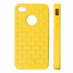 "BACK CASE ""COAT"" iPhone 4/4s amarillo"