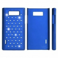 "HARD CASE ""ZIRCONIA"" iPhone 4/4s azul HQ"