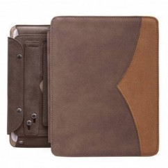 "FUNDA PARA TABLET ""TWIN"" iPad2/iPad3 marrón"