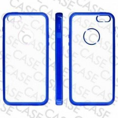 "CARCASA TRASERA ""GLASS""  iPhone 5 AZUL"