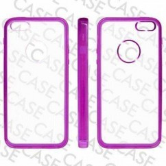 "CARCASA TRASERA ""GLASS""  iPhone 5 VIOLETA"