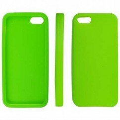 "CARCASA TRASERA ""SILICON""  iPhone 5 VERDE"