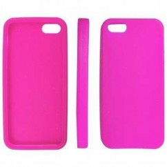 "CARCASA TRASERA ""SILICON""  iPhone 5 ROSA"