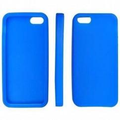 """CARCASA TRASERA """"SILICON""""  iPhone 5 AZUL"""