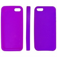 "CARCASA TRASERA ""SILICON""  iPhone 5 VIOLETA"