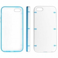 "CARCASA TRASERA ""RIGID""  iPhone 5 blanco TRANSPARENT"