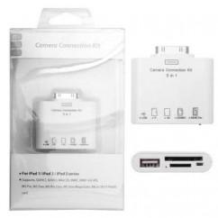 ADAPTADOR Lector de tarjetas de memoria iPad 5in1