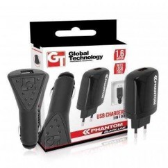 KIT DE CARGADORES GT PHANTOM 1.6A 3in1 iPhone 5