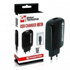CARGADOR DE RED GT PHANTOM USB 1.6A + kabel iPhone 5