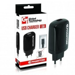 CARGADOR DE RED GT PHANTOM USB 1.6A + kabel K750/K800
