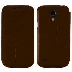 "FLIP CASE ""SKIN"" SAMS.i9190 GALAXY S4 MINI marrón"