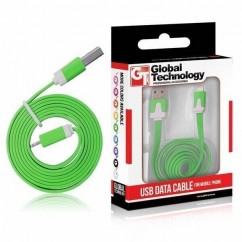 CABLE USB  iPH.5c/5s (8-pin) iOS 7+ PLANO verde