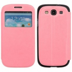FUNDA SLIM VIEW SAMS.I9300 Galaxy S3 rosa