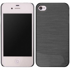 FUNDA MATÁLICA iPhone 4/4s negra