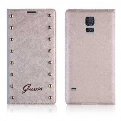 GUESS Book battery SAMS.S5 G900 (GUBBS5SAC) crema