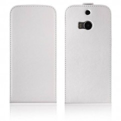 FUNDA VERTICAL FLEXI HTC ONE (M8) blanca