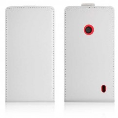 FUNDA VERTICAL  FLEXI NOK.520 LUMIA blanca