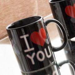 Taza Mágica Negra I Love You