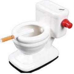 Cenicero de Cerámica con forma de WC