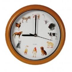 Reloj de Pared Melodía Animales Granja