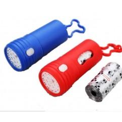 Linterna Porta Bolsas Cacas de Perro