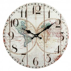 Reloj de Pared Mapa Antiguo Vidrio